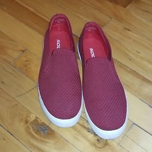 4/$50 - Red Slip-On Flats